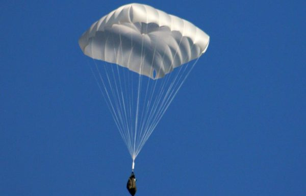 Square-shaped rescue parachute for paragliding from 350 euros